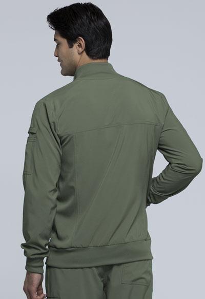 2528a244579 Photograph of Infinity Men's Men's Zip Front Jacket Green CK305A-OLPS