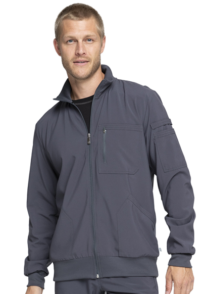Infinity by Cherokee Men's Men's Zip Front Jacket Gray