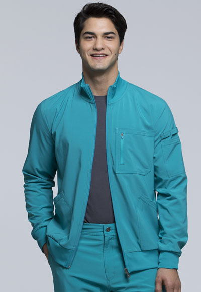 Infinity Men's 'Men's Zip Front Jacket Blue