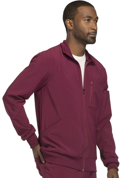 1435ec2b5cf Infinity Men's Zip Front Jacket in Wine CK305A-WNPS from Castle Uniforms