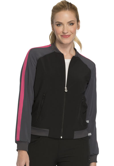 Infinity Women Zip Front Warm-up Jacket Black