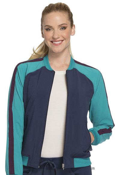 Infinity by Cherokee Women's Zip Front Warm-up Jacket Blue