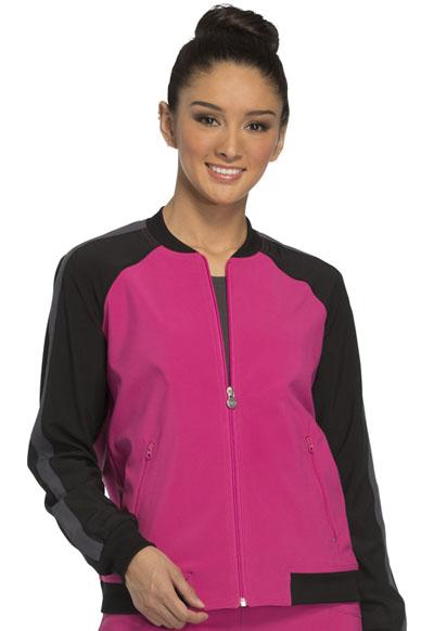 Infinity by Cherokee Women's Zip Front Warm-up Jacket Purple