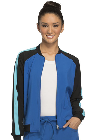 Infinity by Cherokee Women's Zip Front Warm-up Jacket Blue