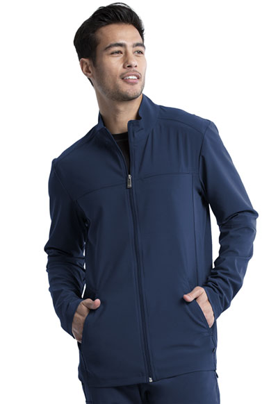 Infinity Men Men's Zip Front Jacket Blue