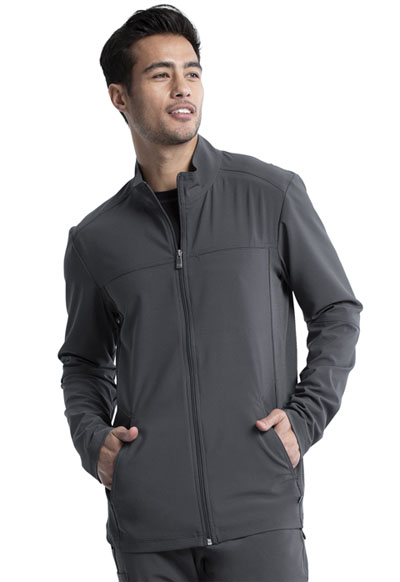 Infinity Men Men's Zip Front Jacket Gray