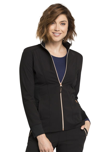 Statement Women Zip Front Jacket Black