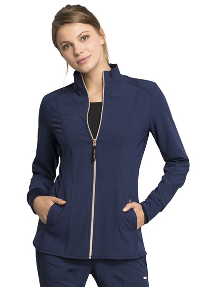 Statement Women Zip Front Jacket Blue