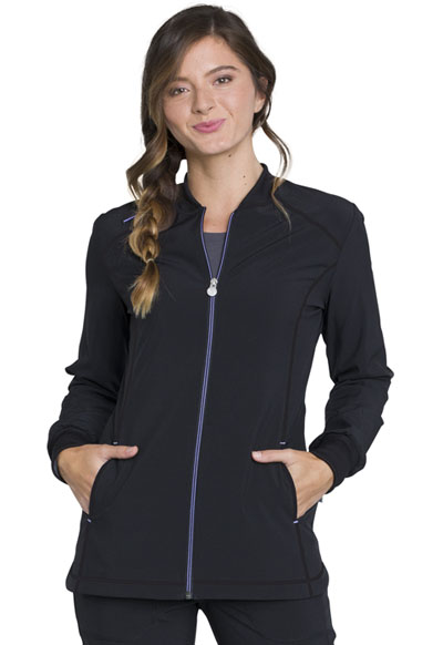Infinity Women's Zip Front Warm-up Black