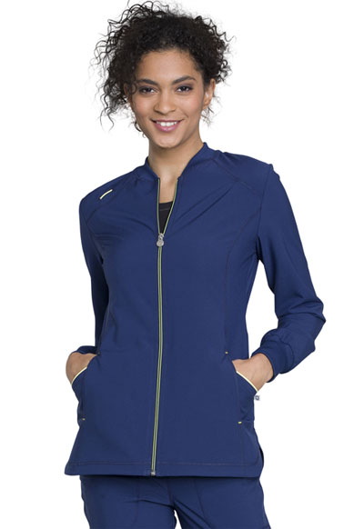 Infinity Women's Zip Front Warm-up Blue