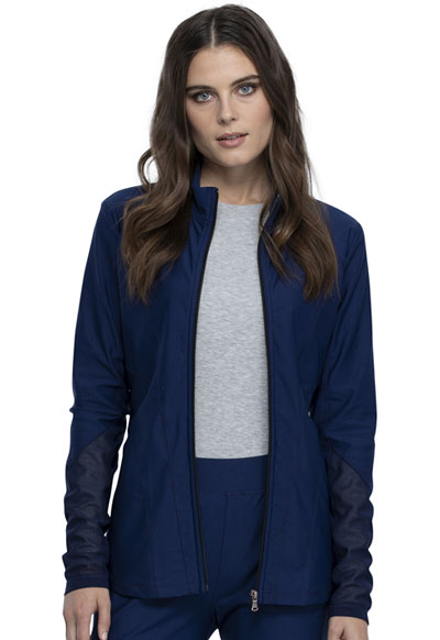 Cherokee Form Women Zip Front Jacket Blue