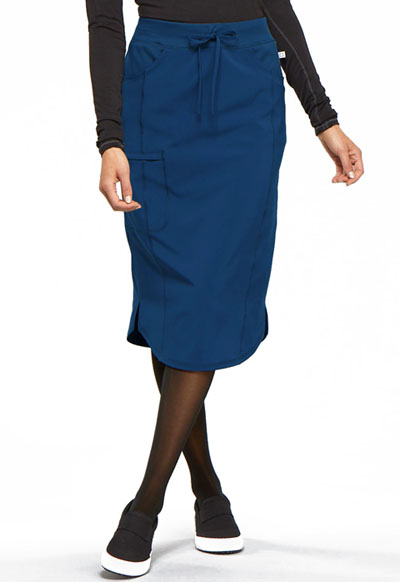 Infinity Women 30 Drawstring Skirt Blue