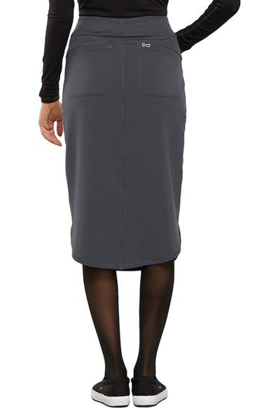 "Pewter Cherokee Scrubs Infinity 30/"" Drawstring Skirt CK505A PWPS"