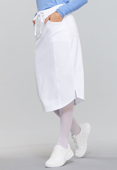 44cba71e46a Infinity Drawstring Skirt in White CK505A-WTPS from DASCO Reid ...