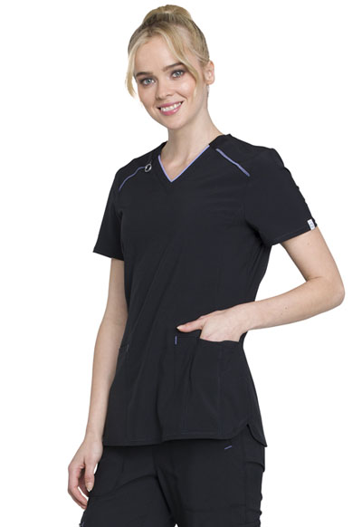 11c66ada80a Infinity V-Neck Top in Black CK520A-BAPS from Walkabout Junction