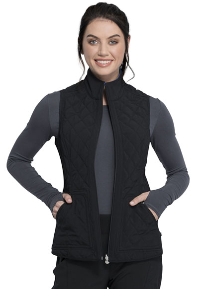 Infinity Women Reversible Quilted Vest Black