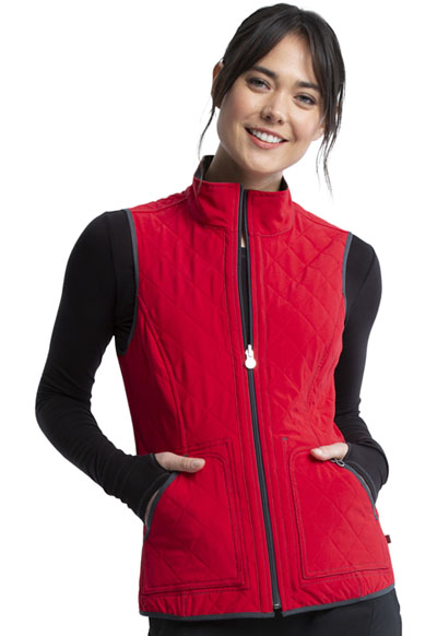 Infinity Women Reversible Quilted Vest Gray