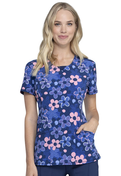 Infinity Women Round Neck Top Actively In Bloom