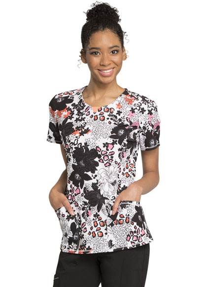 Infinity Women's Round Neck Top Wild Floral