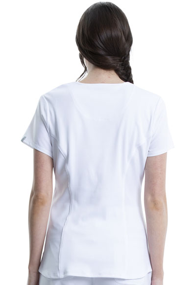 3ba0281783d Infinity V-Neck Top in White CK623A-WTPS from DASCO Reid Uniform & Shoes