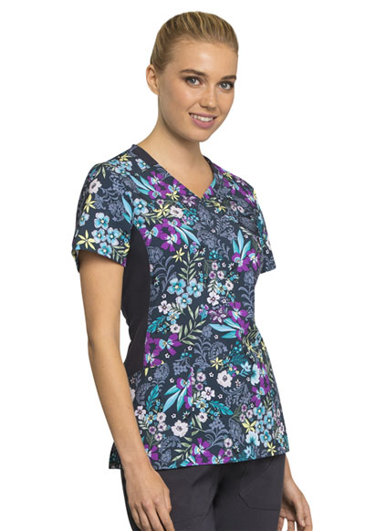 c9af799dc75 Photograph of iFlex Women's Mock Wrap Knit Panel Top Flor-ever In My Dreams  CK642