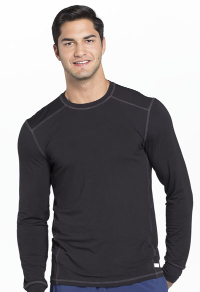 Infinity Men's Men's Long Sleeve Underscrub Knit Top Black