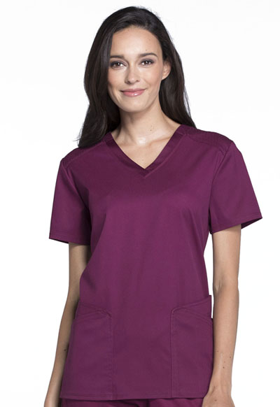 Luxe Sport Women V-Neck Top Red