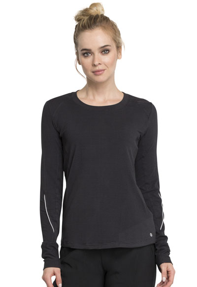 Infinity Women's Long Sleeve Underscrub Knit Tee Black