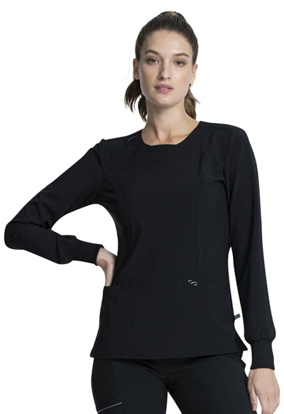 Infinity Women Long Sleeve V-Neck Top Black