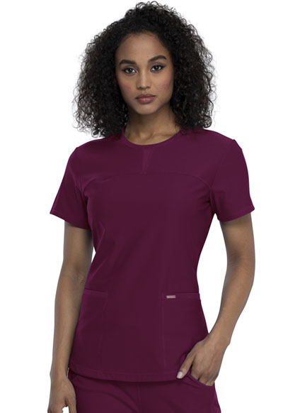 Cherokee Form Women Round Neck Top Red