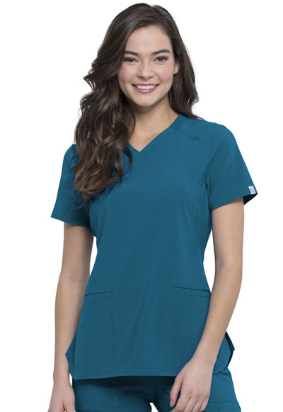 Infinity Women V-Neck Top Blue