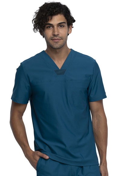 Cherokee Form Men Men's Tuckable V-Neck Top Blue