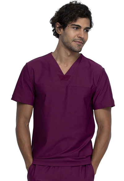 Cherokee Form Men Men's Tuckable V-Neck Top Red