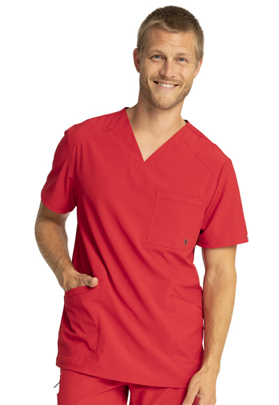 Infinity Men Men's V-Neck Top Red