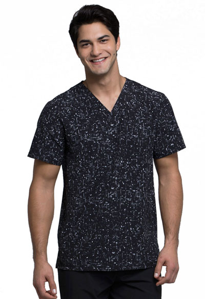 Cherokee Infinity Men's Men's V-Neck Top Brush Hour