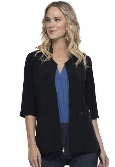 Infinity Women Zip Front Tunic Black