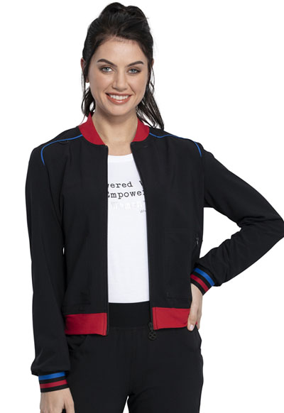 Katie Duke iFlex Women's Bomber Jacket Black