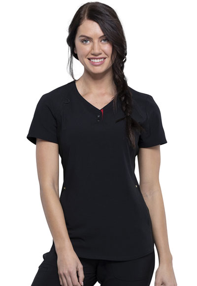 Katie Duke iFlex Women's V-Neck Top Black