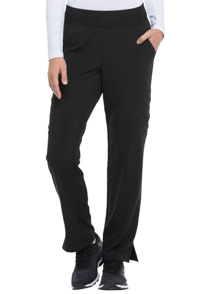 Every Day EDS Essentials Women's Natural Rise Tapered Leg Pull-On Pant Black