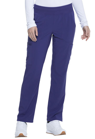 Every Day EDS Essentials Women Natural Rise Tapered Leg Pull-On Pant Purple