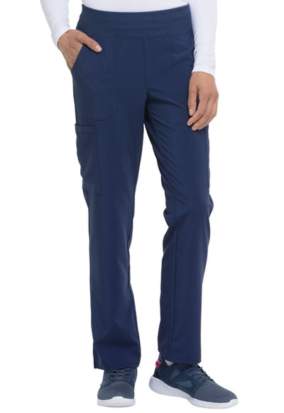 Every Day EDS Essentials Women Natural Rise Tapered Leg Pull-On Pant Blue