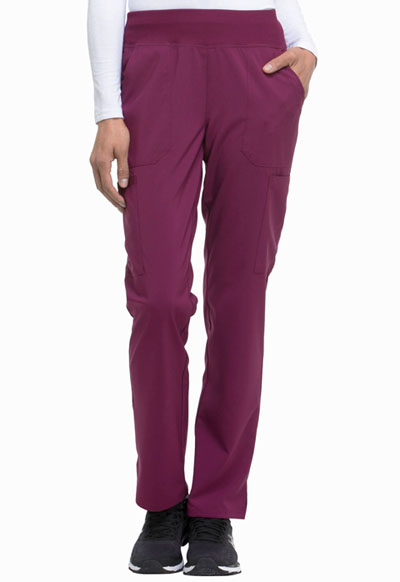 Every Day EDS Essentials Women Natural Rise Tapered Leg Pull-On Pant Red
