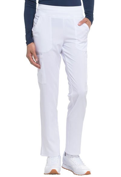 Every Day EDS Essentials Women's Natural Rise Tapered Leg Pull-On Pant White