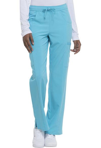 d645f1bab62 Photograph of EDS Essentials Women's Mid Rise Straight Leg Drawstring Pant  Blue DK010P-TRQ