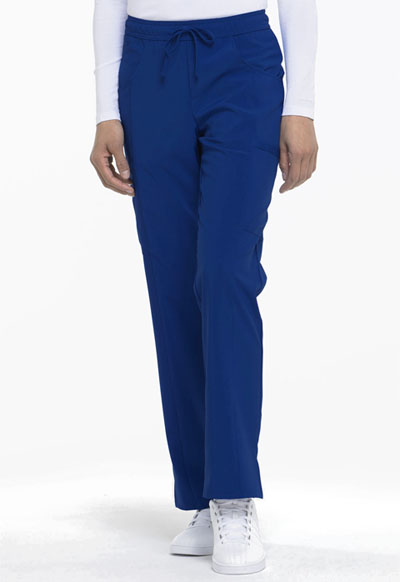 Every Day EDS Essentials Women Mid Rise Straight Leg Drawstring Pant Blue