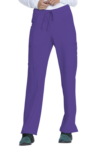 Every Day EDS Essentials Women Mid Rise Straight Leg Drawstring Pant Purple