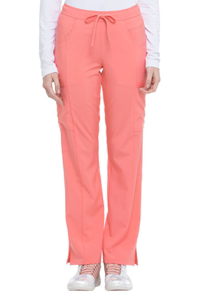 Every Day EDS Essentials Women's Mid Rise Straight Leg Drawstring Pant Red
