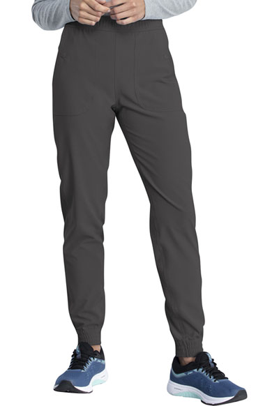 Retro Women Mid Rise Jogger Gray