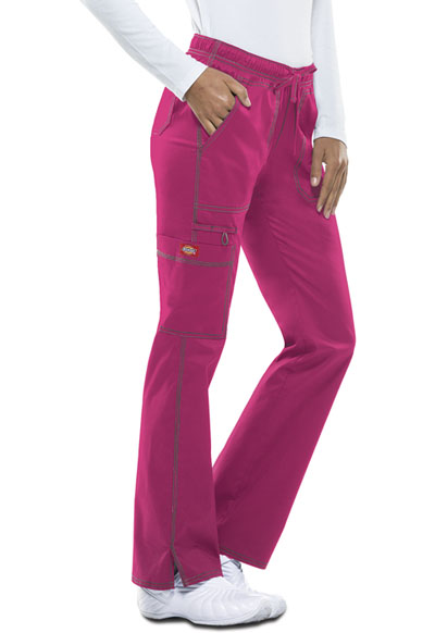 Gen Flex Women's Low Rise Straight Leg Drawstring Pant Pink