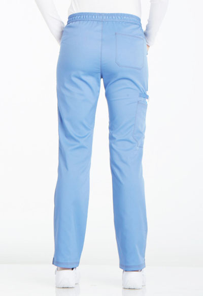 ded11e35a04 Photograph of Essence Women's Mid Rise Straight Leg Drawstring Pant Blue  DK106P-CIE